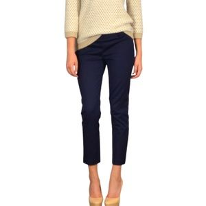 Suzy Shier Navy Blue Cropped Ankle Pants Trousers